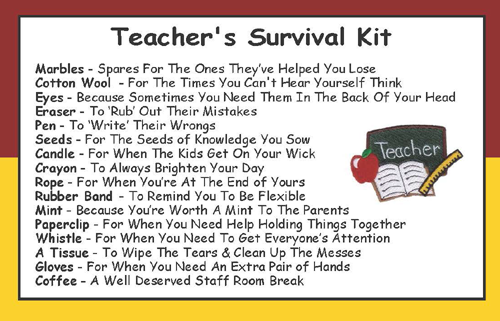 Teacher s Survival Kit In A Can